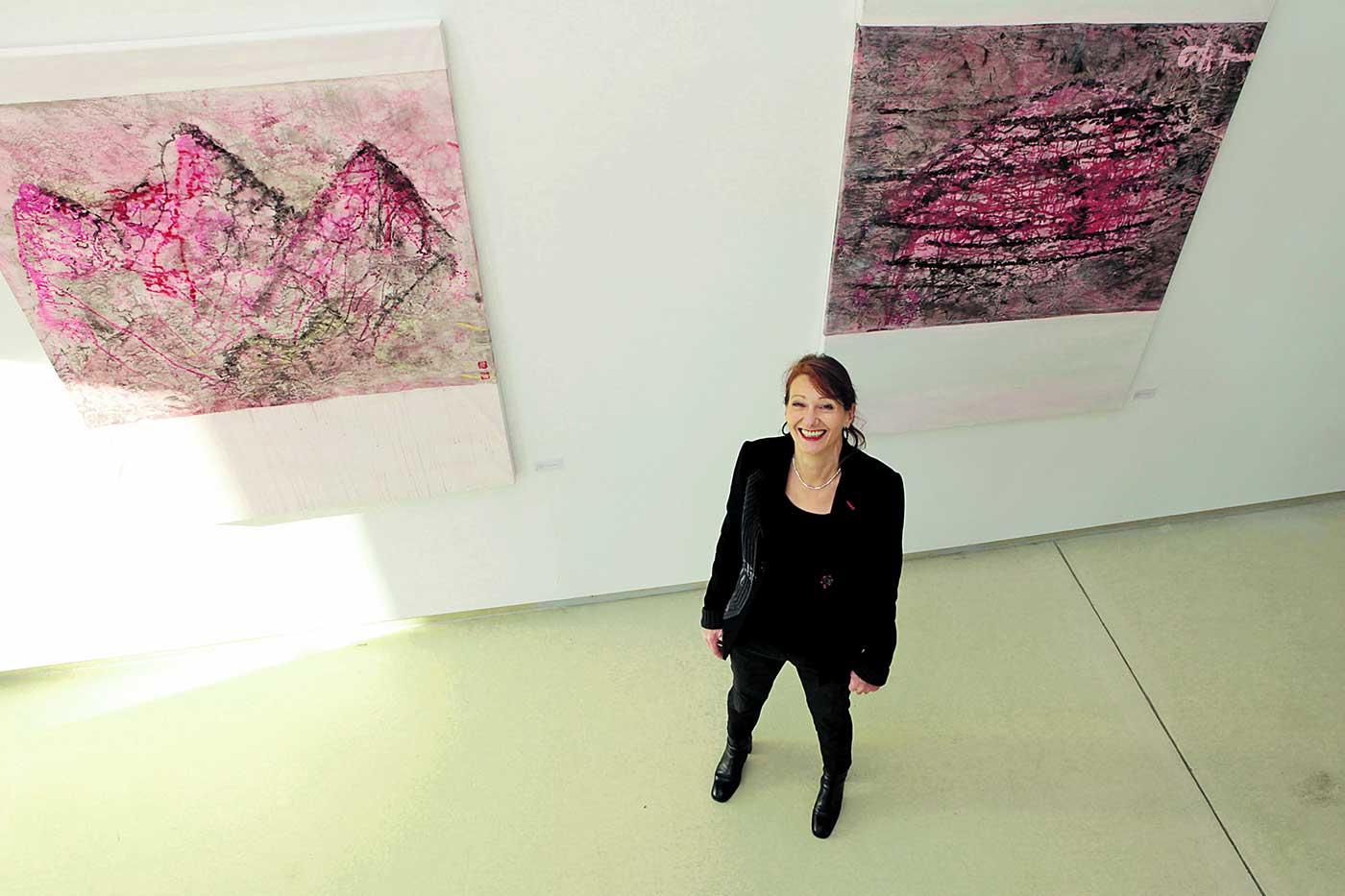 GüŸdny Schneider-Mombaur, Ausstellung Basislager, Galerie SK. Foto: Daniela Tobias